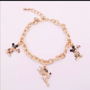 New Tinkerbell and Mickey Mouse Charm Bracelet